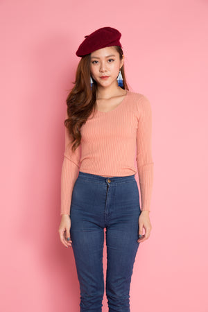 Ewa Knit Top in Pink