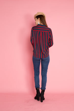 Jeasae Stripes Top in Red
