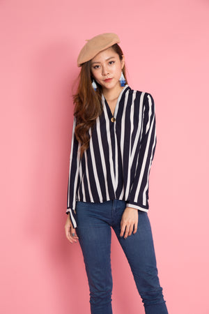Jeasae Stripes Top in White
