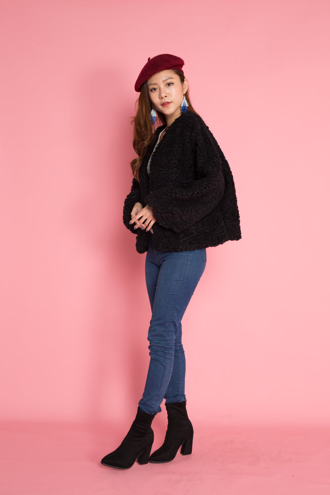 Load image into Gallery viewer, PREMIUM - Winnia Wool Jacket in Black
