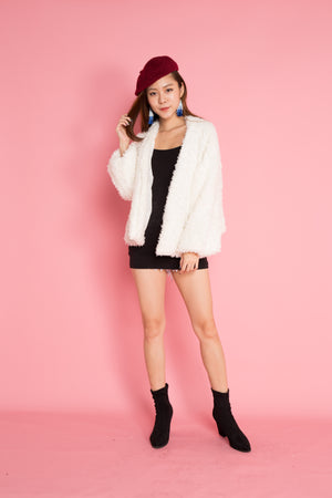 PREMIUM - Winnia Wool Jacket in White