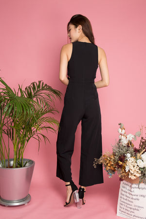 Jacqueline Ribbon Jumpsuit in Black