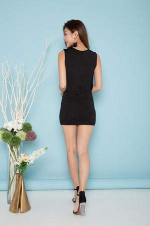 Molly Sleeveless Dress in Black