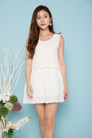 Kaleigh Embroided Dress in White
