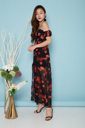 LUXE - Damaris Bustier Floral Maxi Dress