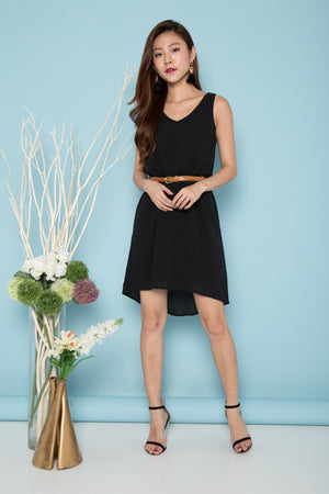Skye Sleeveless Tunic Dress in Black