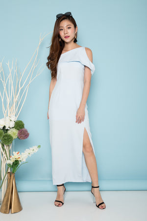 Luxe - Vaelra Offsie Gown Dress In Blue
