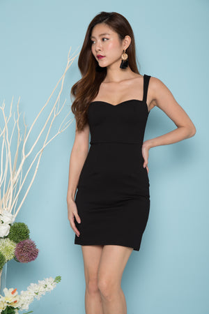 *PREMIUM* IVYLIA SWEETHEART BUSTIER DRESS IN BLACK - LBRLABEL MANUFACTURED