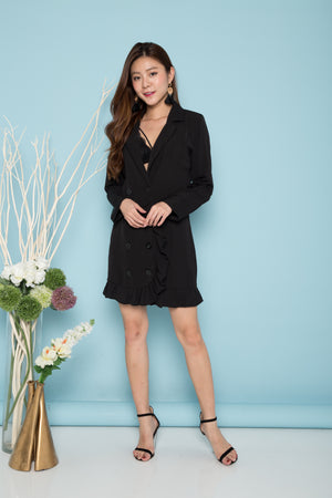 Load image into Gallery viewer, Andiea Button Down Dress in Black