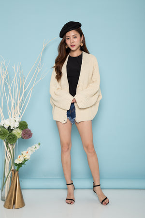 Abriella Oversized Cardigan in Cream