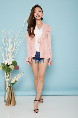 Load image into Gallery viewer, Alani Drape Cardigan in Pink