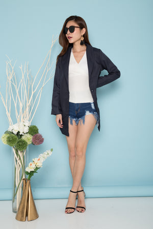 Adrina Blazer Coat in Navy
