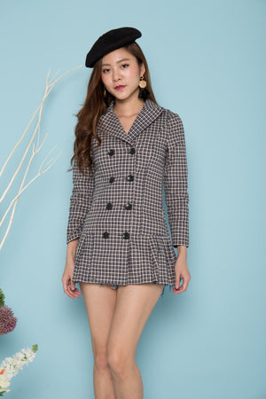 LUXE - Bria Gingham Button Down Dress