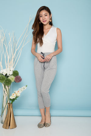 Mallory Comfy Lounge Pants in Light Grey