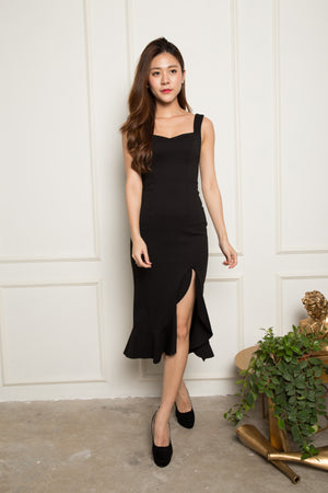*PREMIUM* - JODILIA MERMAID DRESS IN BLACK - LBRLABEL MANUFACTURED