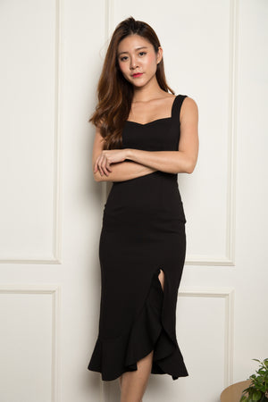 Load image into Gallery viewer, *PREMIUM* - JODILIA MERMAID DRESS IN BLACK - LBRLABEL MANUFACTURED