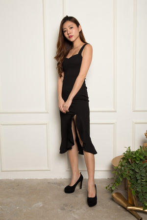 (BO) *PREMIUM* - JODILIA MERMAID DRESS IN BLACK - LBRLABEL MANUFACTURED