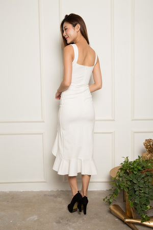 *PREMIUM* - JODILIA MERMAID DRESS IN WHITE - LBRLABEL MANUFACTURED