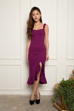 *PREMIUM* - JODILIA MERMAID DRESS IN MAGENTA - LBRLABEL MANUFACTURED