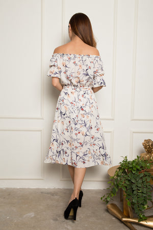 Isla Floral Off Shoulder Dress