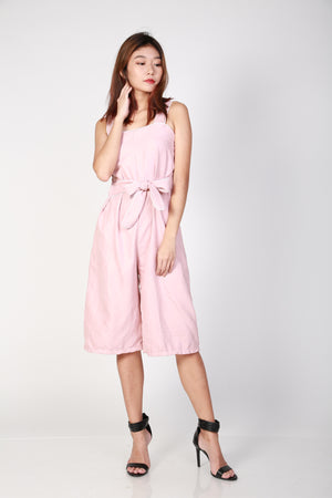 Lise Ribbon Jumpsuit in Pink