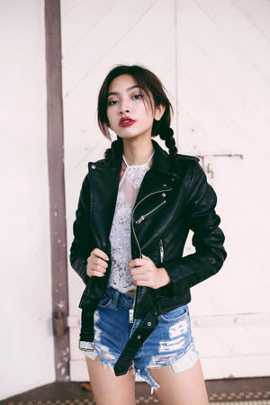 Juez Leather Jacket in Black