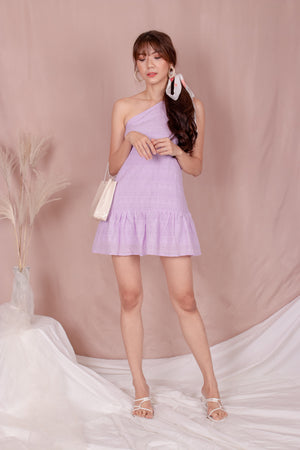 Load image into Gallery viewer, *PREMIUM* - Rolia Crochet Romper in Lilac - Self Manufactured by LBRLABEL