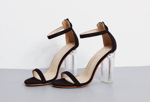 (BACKORDER) Trixia Minimalist Heels in Black