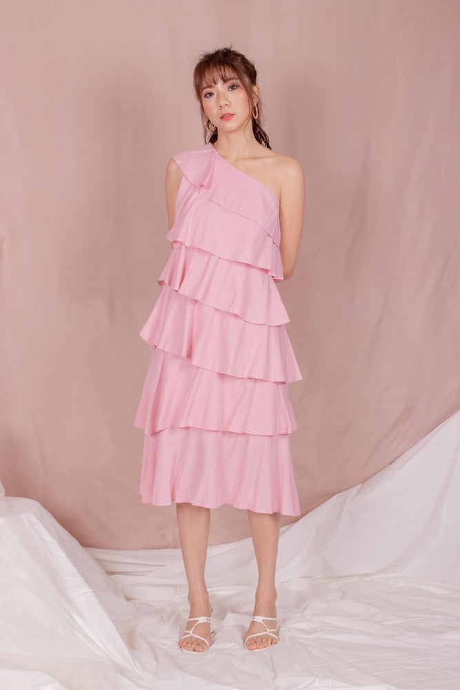 *PREMIUM* - Tilia Layered Dress in Pink - Self Manufactured by LBRLABEL