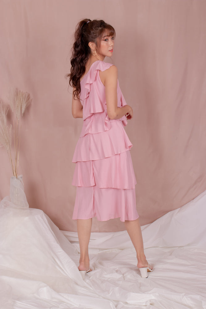 Load image into Gallery viewer, *PREMIUM* - Tilia Layered Dress in Pink - Self Manufactured by LBRLABEL