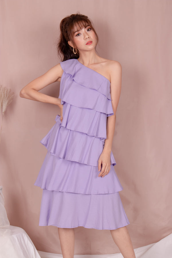 *PREMIUM* - Tilia Layered Midi Dress in Lilac - Self Manufactured by LBRLABEL