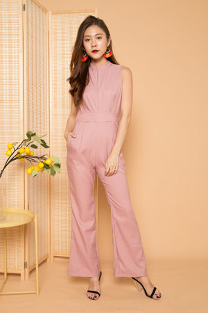 Load image into Gallery viewer, Malia Sleeveless Jumpsuit in Pink
