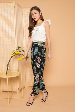 Andrra Tropical Floral Pants in Green