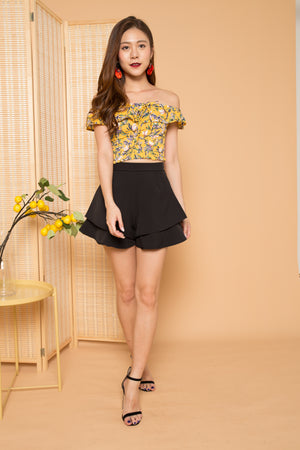 Noemi 4 Ways Floral Top in Yellow