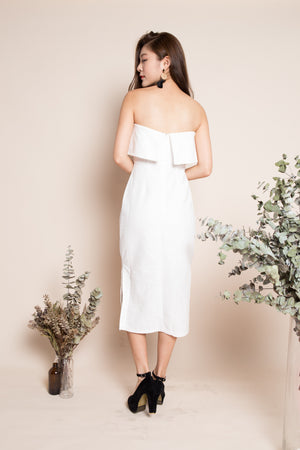 Annette Slit Maxi Dress in White