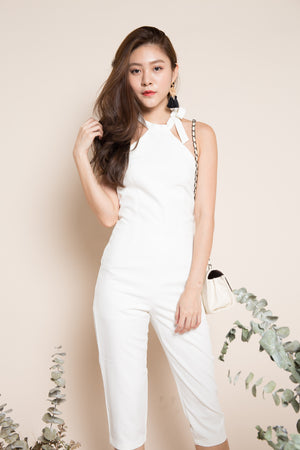 Bernalyn Halter Jumpsuit in White