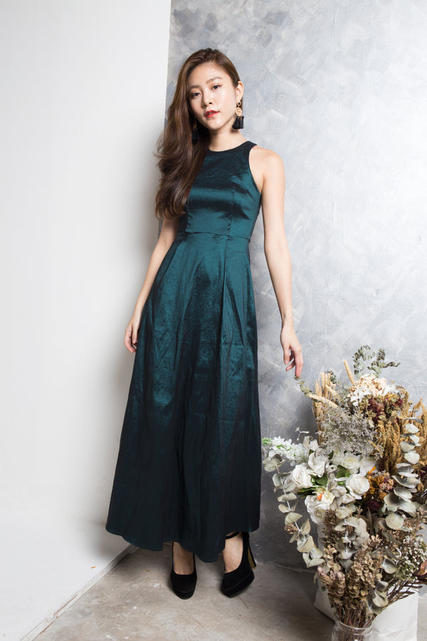 51ab2fc382 LUXE - Gigi Gown Dress in Green - LBRLABEL