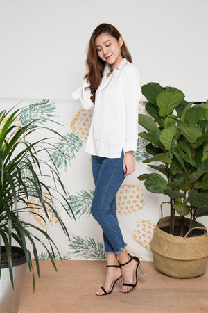 Talin Basic Top in White