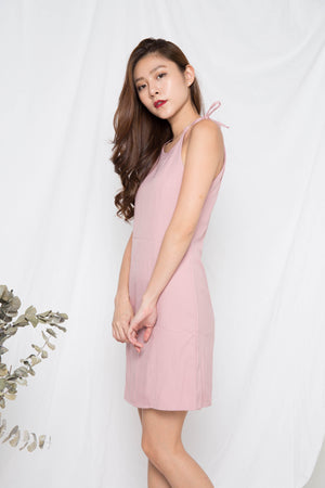 Addisyn Ribbon Dress in Pink