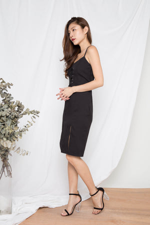 Learie Laces Dress in Black