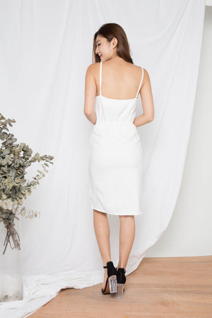 Learie Laces Dress in White
