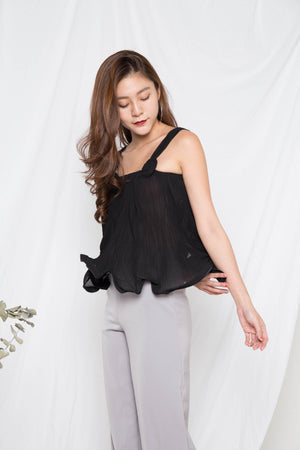 Milani Pleated Top in Black