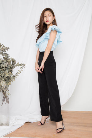 Graceysie Straight Cut Pants in Black