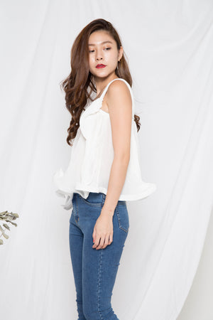 Milani Pleated Top in White