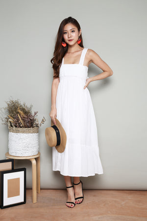 Nevah Maxi Dress in White