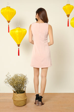 Madison Shift Dress in Pink
