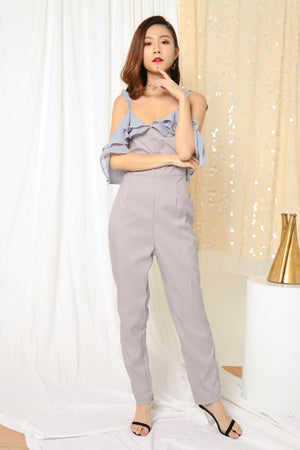 Jansa Flutter Jumpsuit in Grey