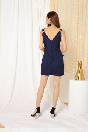Piper Slash Dress in Navy