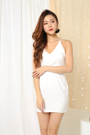 JOLANE STRAP DRESS IN WHITE