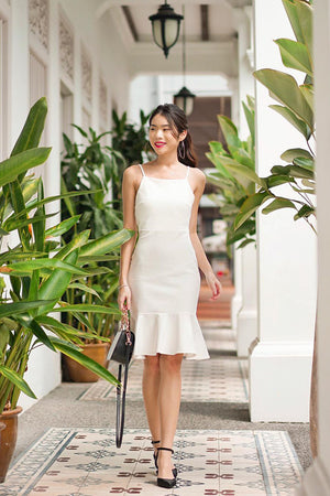 * PREMIUM * TALIA CAMI MERMAID DRESS IN WHITE - SELF MANUFACTURED BY LBRLABEL